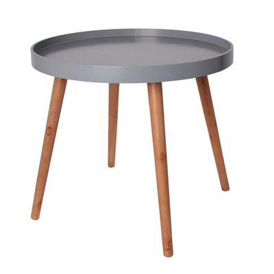 Table d'appoint ronde 50x50x44 cm en bois gris - BALTIC