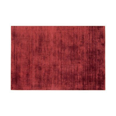Tapis 120x170 cm en viscose rouge - FLASH
