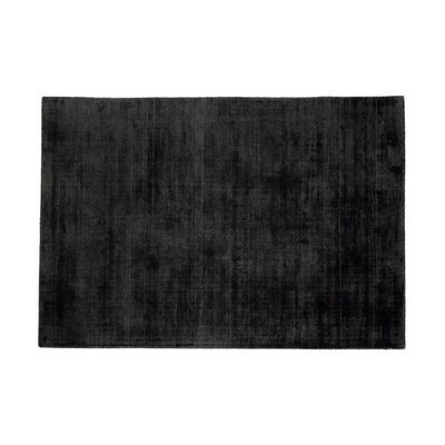 Tapis 120x170 cm en viscose anthracite - FLASH