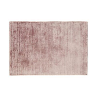 Tapis 120x170 cm en viscose rose - FLASH