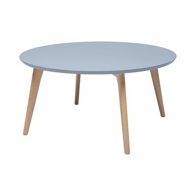 Table basse ronde 78x38 cm gris et naturel - BALTIC