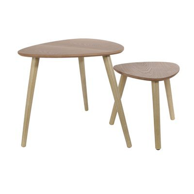 Lot de 2 tables gigognes 33 cm en bois naturel - BALTIC