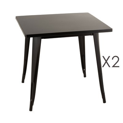Table de bar 80x80x75 cm en métal noir - ARTY
