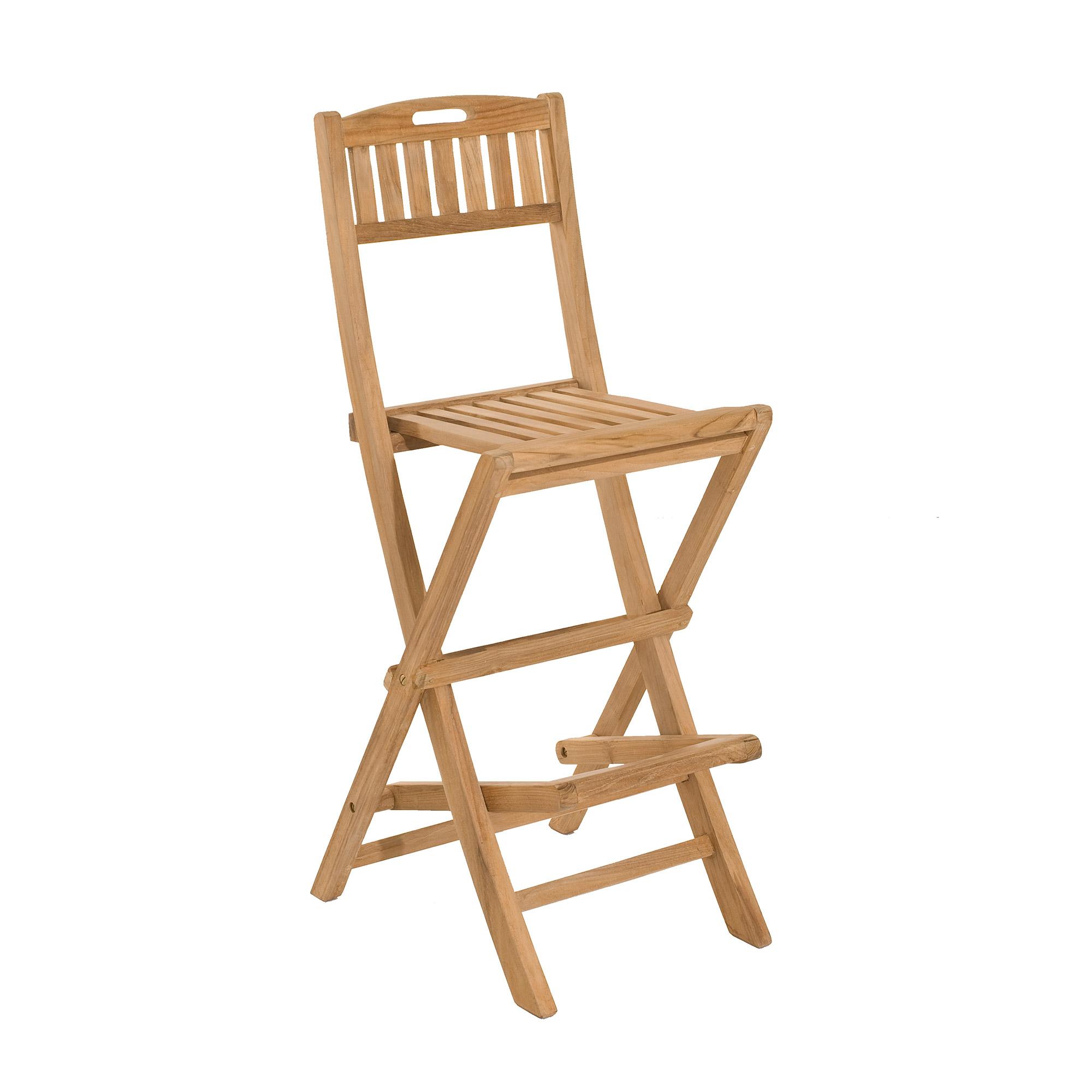 Chaise pliante de bar en teck - GARDENA