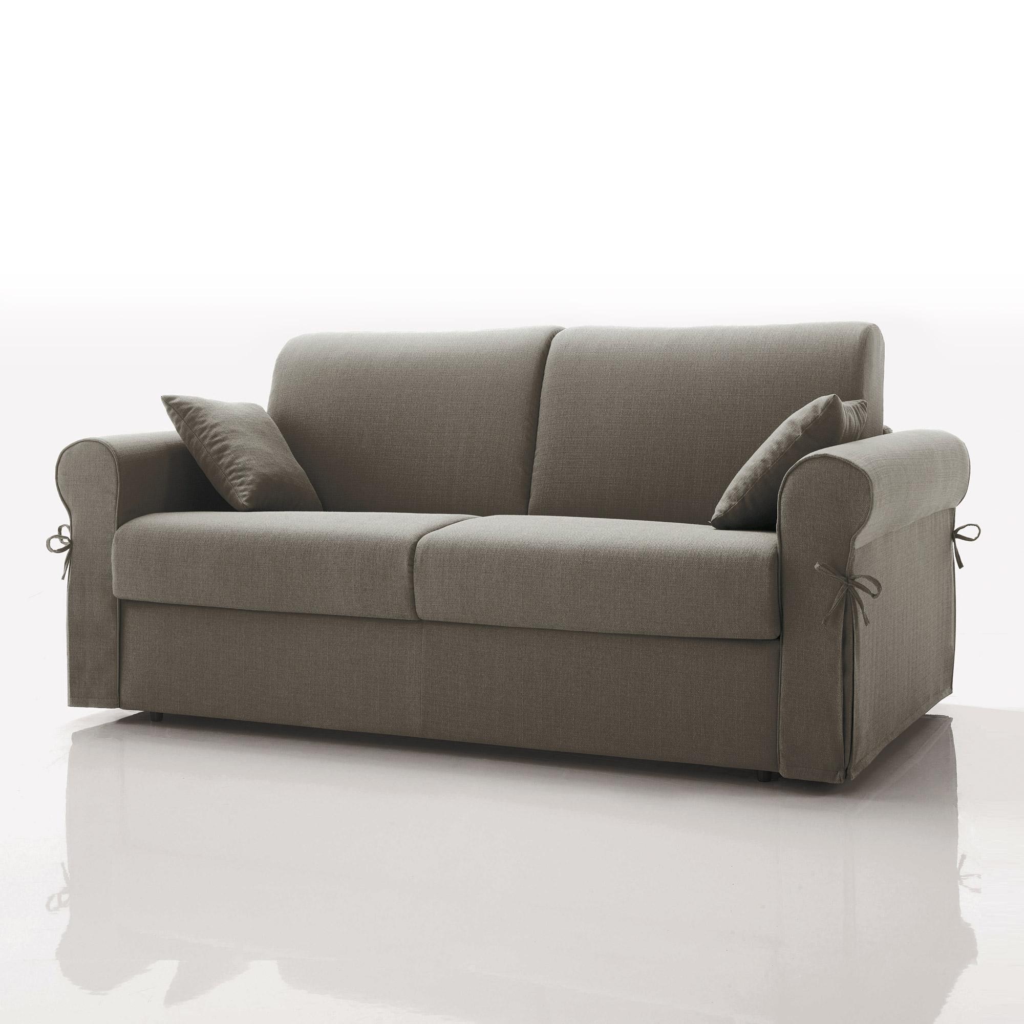 canap convertible 3 places tissu d houssable gris ebay. Black Bedroom Furniture Sets. Home Design Ideas