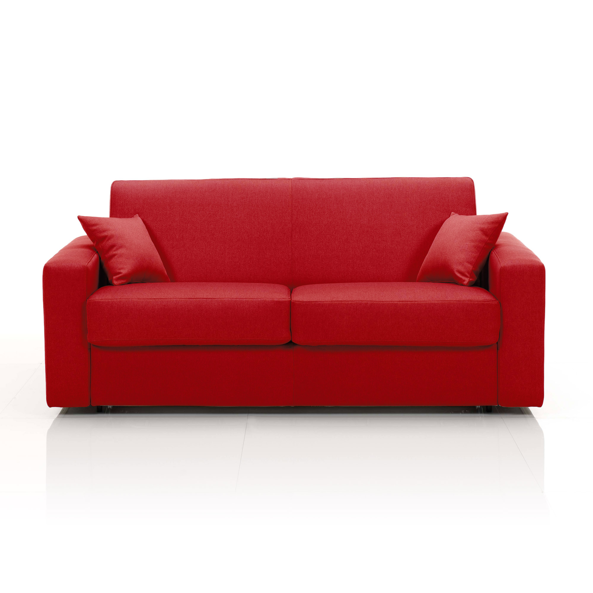 Canap convertible 2 places maxi tissu d houssable rouge ebay - Canape convertible definition ...