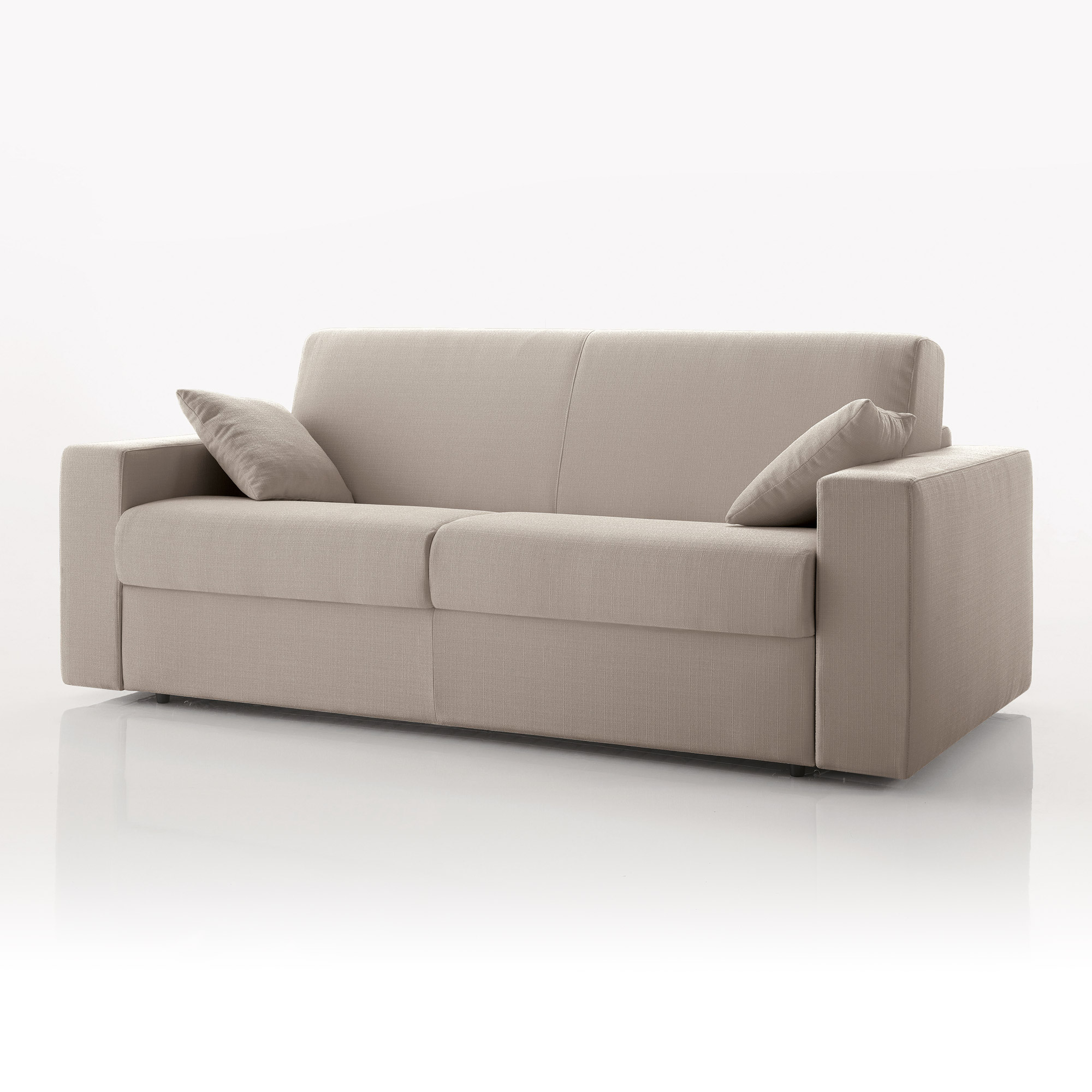 Canap convertible 3 places tissu d houssable cru ebay - Canape convertible definition ...