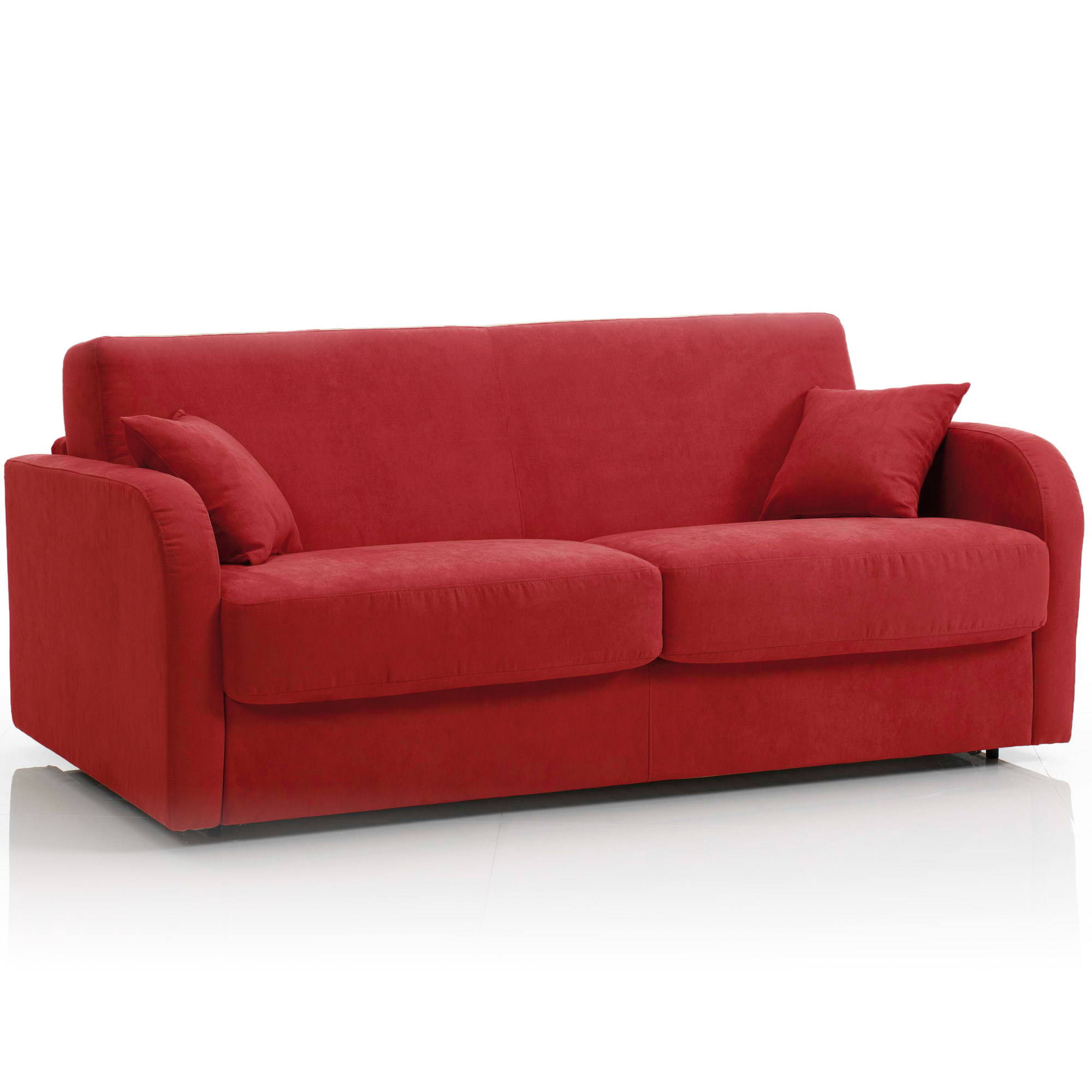 Canap convertible 3 places maxi tissu d houssable rouge ebay - Canape convertible definition ...