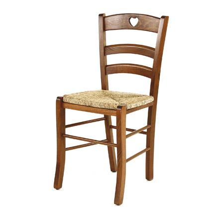 Couleurs chaise en bois assise paille collection pays for Chaise en pin massif